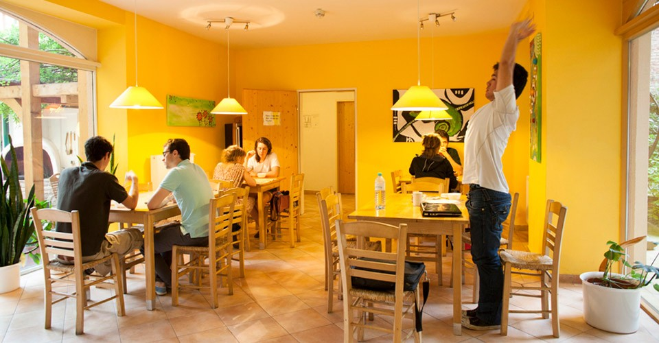 Wonderful common area, most beautiful in all Vienna Hostels